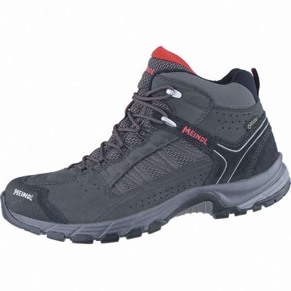 Meindl Journey Mid GTX Herren Leder Mesh Outdoor Schuhe anthrazit, Air-Active-Wellness-Sport-Fußbett