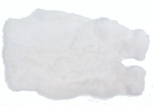 Kaninchenfelle weiß gefärbt, ca. 30x30 cm, Felle vom Kaninchen mit seidigem Haar