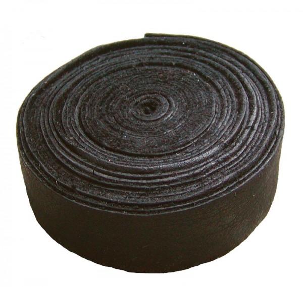 Lederband Einfassband Rindleder braun, vegetabil gegerbtes Leder, Länge 10 m, Breite 15 mm, Stärke ca. 0,9 / 1,1 mm