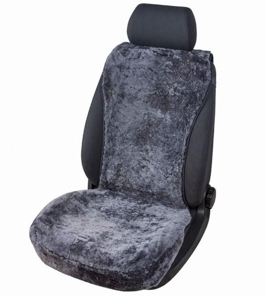 kuschelweiche Universal Lammfell Autositz Auflage anthrazit für alle PKW, Sommer + Winter, 100% australische Lammfell