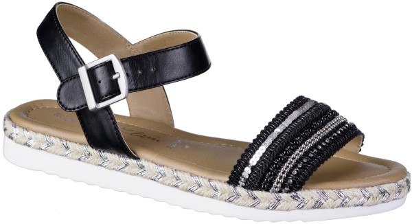 JANE KLAIN Damen Synthetik Sandalen black, weiche Super Soft Decksohle