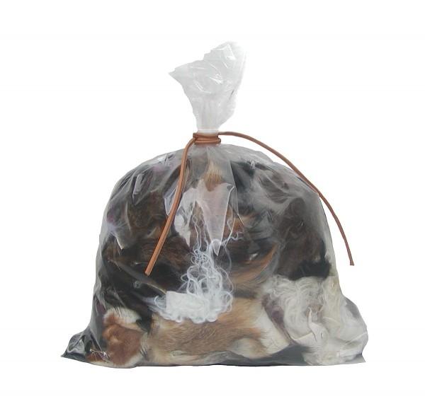 500 Gramm Fellreste Mix zum basteln, Fellstücke vom Lammfellen, Rotfuchsfellen, Kaninchenfellen