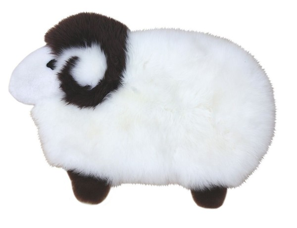 Heitmann Felle Lammfell Kinder Wärmflaschenbezug und Kissen Schaf 53x38 cm mit Reißverschluss, waschbar, echtes Lammfell