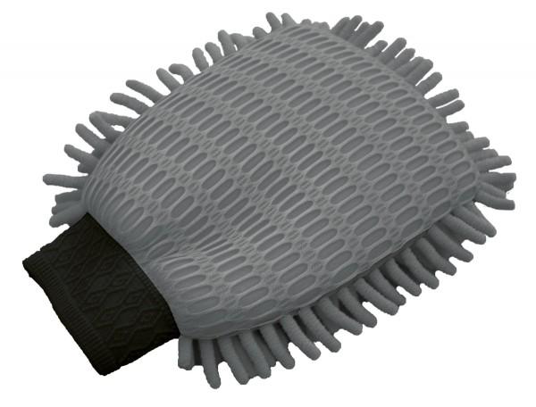 Auto Mikrofaser Wasch Handschuh mit 2 Seiten grau, 17x22 cm, reinigt ohne kratzen, fusselt nicht