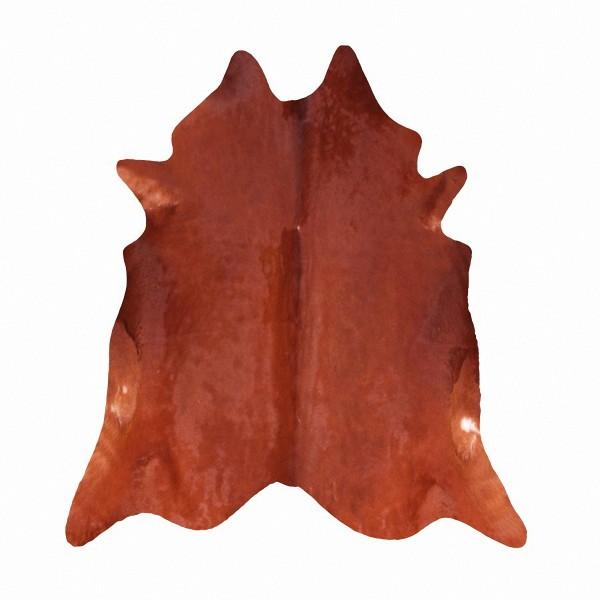 große südamerikanische Rinderfelle, Kuhfelle, rotbraun-schwarz natur, seidig glänzendes Fell, ca. 3-4 m²