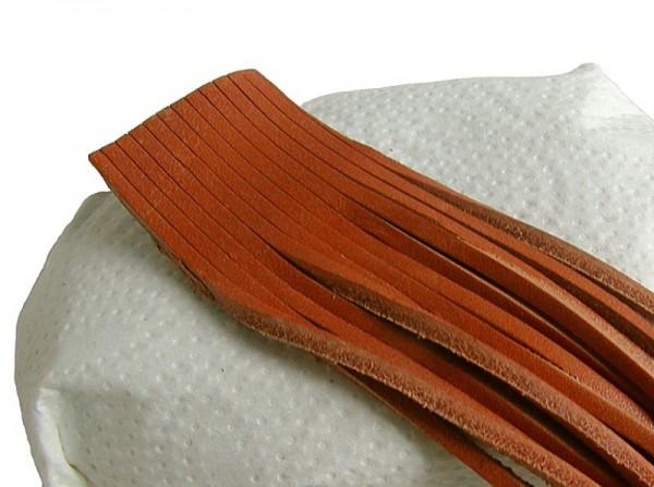 10 Stück Vierkant Lederriemen Rindleder natur am Bund, Voll-Leder, Länge 120 cm, Stärke ca. 2,8 mm, Breite ca. 2,8 mm