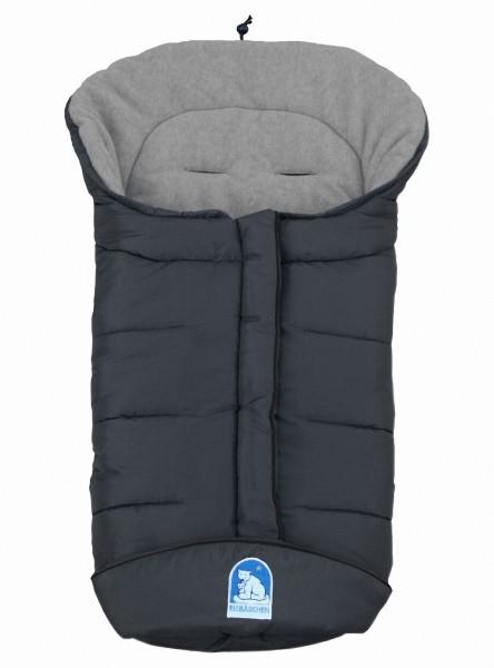 molliger Baby Winter Fleece Fußsack grau, voll waschbar, für Kinderwagen, Buggy, ca. 98x47cm