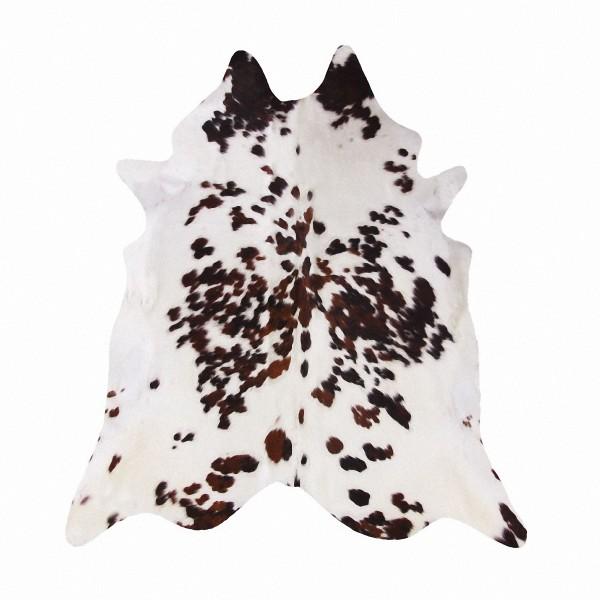 große südamerikanische Rinderfelle, Kuhfelle, braun-weiß natur, seidig glänzendes Fell, ca. 3-4 m²-