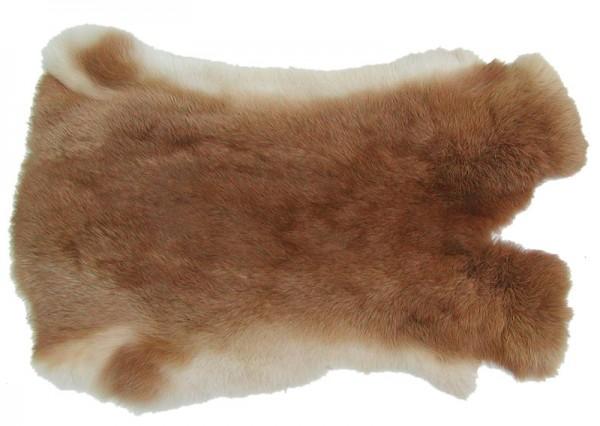 Kaninchenfelle fuchsrot naturfarben, ca. 30x30 cm, Felle vom Kaninchen mit seidigem Haar