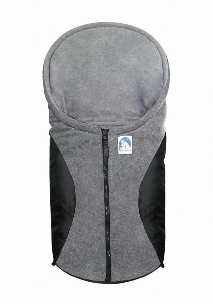 molliger Baby Winter Fleece Fußsack schwarz, für Tragschalen, Autositze, ca. 79x39 cm, warm wattiert