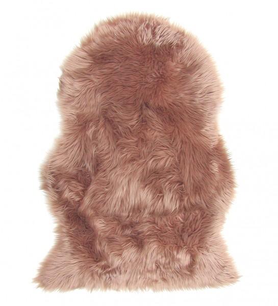 Lammfell Teppich Kunstfell camel, Schaffell Imitat, 100% Acryl, ca. 90x60 cm, 60 mm Flor, waschbar