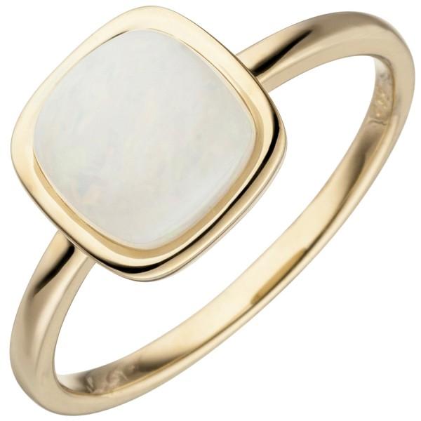 Damen Ring 585 Gold Gelbgold 1 Opal Goldring
