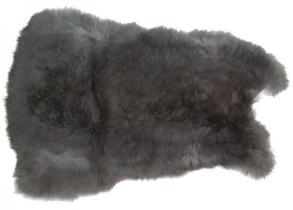 Kaninchenfelle grau naturfarben, ca. 28x30 cm, Felle vom Kaninchen mit seidigem Haar