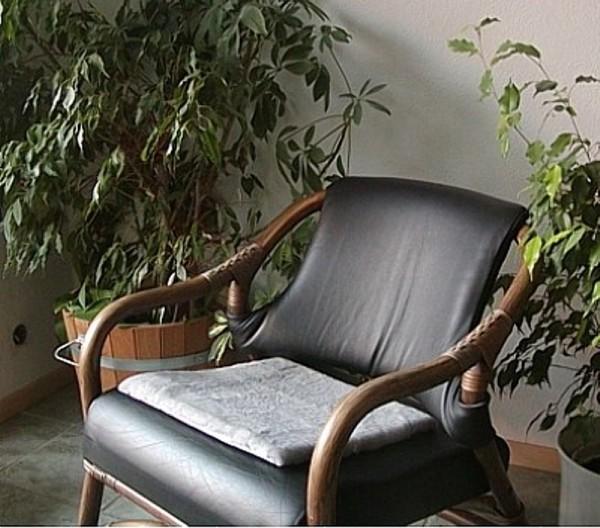 Lammfell Kissen aus ganzen Fellen silber, Fell Sitzkissen, waschbar, ca. 40x40 cm