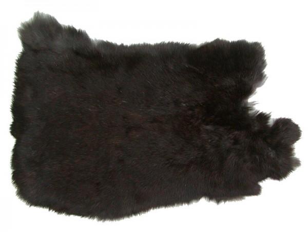 Kaninchenfelle dunkelbraun naturfarben, ca. 30x30 cm, Felle vom Kaninchen mit seidigem Haar