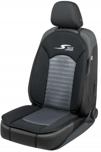 komfortable Universal Polyester Auto Sitzauflage S-Race anthrazit, 12 mm Schaumstoff Polsterung, waschbar, PKW Sitzaufleger