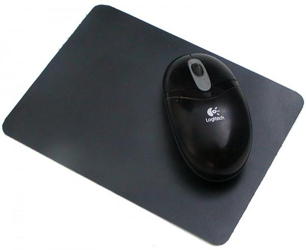 Leder Mousepad, Leder Mauspad, Leder Mausmatte, 22,8x18,8 cm, sehr flach