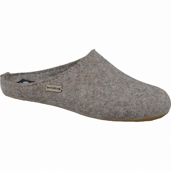 Haflinger Fundus Everest Damen, Herren Schurwoll Haus Pantoffeln torf, Fußbett mit Schurwollbezug