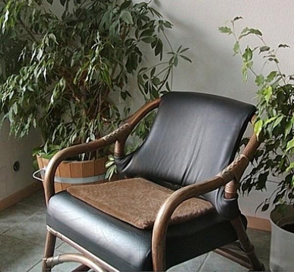 Lammfell Kissen aus ganzen Fellen beigebraun, Fell Sitzkissen, waschbar, ca. 40x40 cm