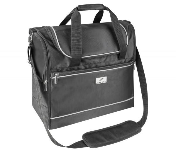 Carbags leichte Reisetaschen 35-55 L, schwarz, 3 Außenfächer, Laptopfach innen, Schultergurt, Tragegriff