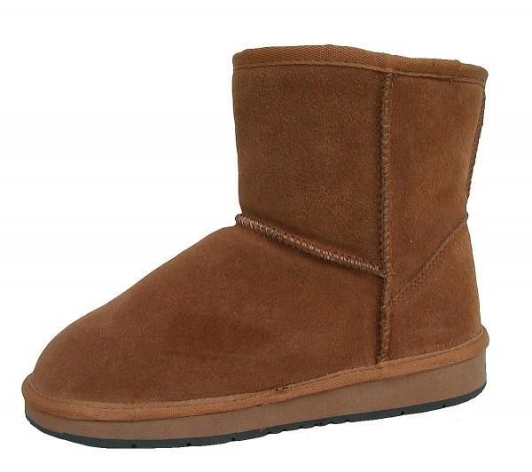 Heitmann Felle Damen Lammfell Leder Winter Boots camel, warme Laufsohle, trendige Profilsohle, Lammfell Futter