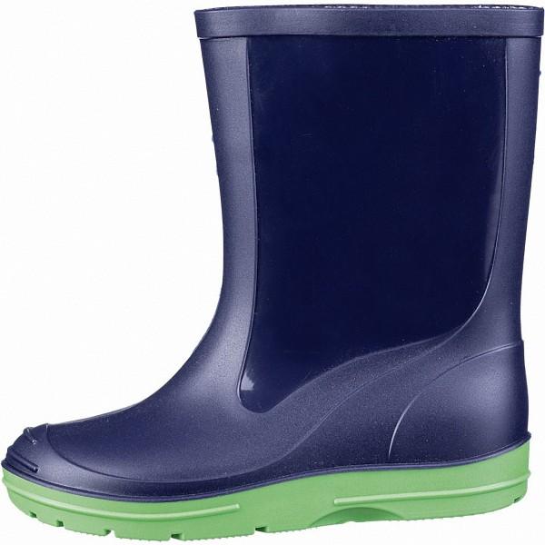 Beck Basic Mädchen, Jungen PVC Regen Stiefel blau, herausnehmbare Einlegesohle