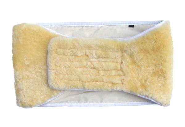 warmer Lammfell Nierengurt, Nierenwärmer, Rückenwärmer, ökologisch gegerbtes Lammfell, ca. 150x25 cm, Größe XL