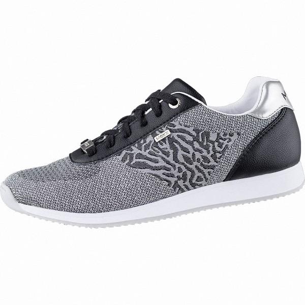 MEXX coole Damen Strick Sneakers black, herausnehmbares Fußbett