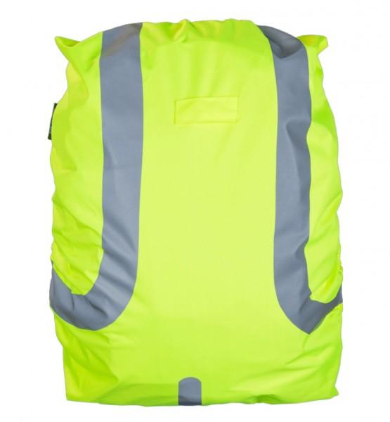 Safety Maker Rucksack Regenschutz reflektierend gelb wasserbeständig 45 Liter, sichtbar bis 100 m, Rucksack Überzug, Regenhülle